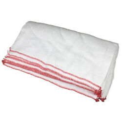 100 Cotton Large Absorbent White Red Dish Cloth Drying Cleaning Towel Duster