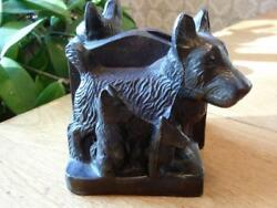 Small Vintage Scottish Terrier Bookends