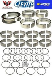 Ford 351 351c Cleveland 70 - 74 Clevite Rod Main Bearings Hastings Piston Rings
