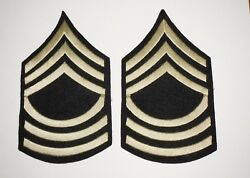 Bullion Master Sergeant Rank Chevrons Patches Theater Made Wwii Us Army C0930