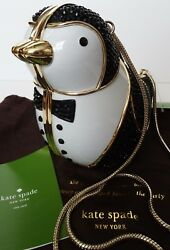 Kate Spade Wedding Bells Crystal Penguin Suit Clutch Purse Crossbody Bag NWT
