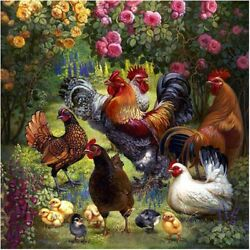 Bantam Chicken Hen cock DIY full diamond painting Embroidery crafts home decor