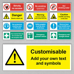 Custom Safety Sign - Health Cctv No Smoking First Aid Warn Signs Caution Office