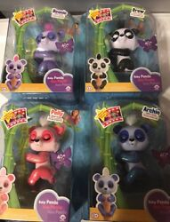 Authentic Wowwee Fingerlings Panda All 4 Polly Beanie Drew Archie Ready To Ship