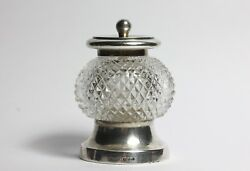 Sterling Silver Antique Cut Glass Pepper Mill 1890 John Grinsell And Sons
