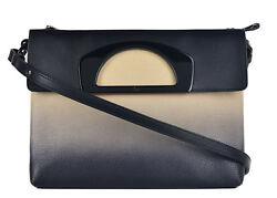 Christian Louboutin Womens Passage Ombre Pebbled Leather Messenger Bag RTL$2450