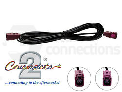 Ct27aa132 5m Gps Female Fakra Extension Bordeaux Car Aerial Adapter Lead Cable