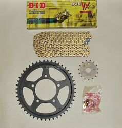 Did Gold X-ring Chain And Black Sprocket Kit For Gsf600 Bandit 95-99 Mk1