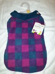 Petco Good2Go Warm and Cozy Reversible Jacket for Dog Berry Check Plaid