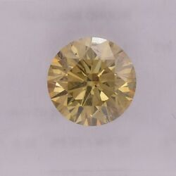 1.61cts Fancy Brown Yellow Loose Diamond Natural Color Round Cut Igi Cert