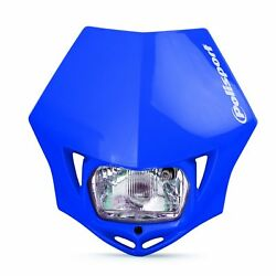 Blue Polisport Mmx E-marked Road Legal Headlight Unit Ktm Crf Drz Xr Wrf Yzf