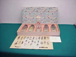 Antique Old 5 Glass Baby Bottles Nos Never Used Bank Nursery Rhyme Box Summit Nj