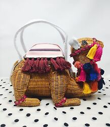 NWT KATE SPADE Spice Things Up WICKER CAMEL SOLD OUT