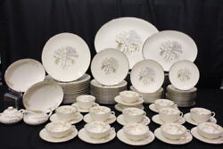 Lot Of 85 Pc. Vintage Franciscan Winter Bouquet Dinnerware Service For 14