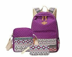 Vicyuns School Backpack Set Including Messenger Bag Pencil for Teenagers Kids