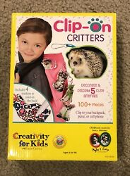 Creativity for Kids Craft Kit Clip-On Critters PLUSH for backpack purse phone