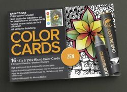 Chameleon Pens Color Cards. ZEN design Arts Crafts 16 piece.