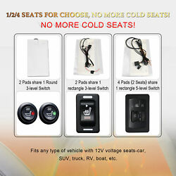 Car Seat Heater Kit Carbon Fiber Universal Heated Cushion Warmer 5 level NEW