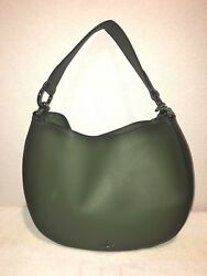 COACH NOMAD HOBO GREEN HANDBAG WITH LONG STRAP F37905 GLOVE TANNED MSRP $495 NWT