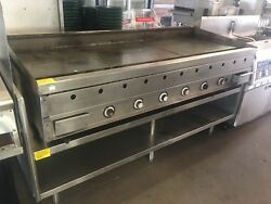 Vulcan 6ft Gas Flat Griddle Thermostatically Controlled With Stand