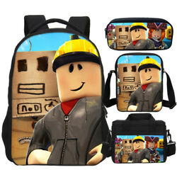 Kids Favorite Roblox 17 inch Big Schoolbag with Lunch Bag Tote Pen Bag WHOLESALE