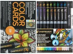 NEW - Chameleon - 22 PenMarker Deluxe Set wZEN Color Card - FREE SHIPPING