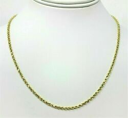 Real 14K Yellow Gold Necklace Gold Rope Chain 1.8 mm 16#x27;#x27; 30#x27;#x27; Genuine 14KT $162.99