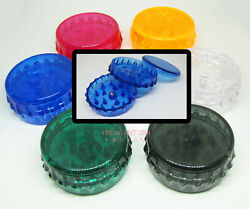 Acrylic 2 3 Piece Magnetic Herb / Spice Grinder / Hand Muller Diamond - New