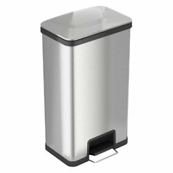 iTouchless AirStep 18 Gallon Step-On Kitchen Stainless Steel Trash Can