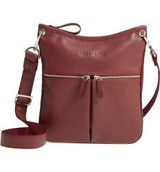 NWT Longchamp Le Foulonne Leather Crossbody Bag WINE RED Lacquer $415+ AUTHENTIC