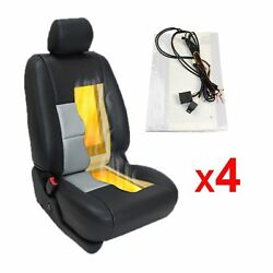 Universal 1-Dial 5-Level Switch Car Seat Heater Kit 2  4 Seats 4  8 Pads
