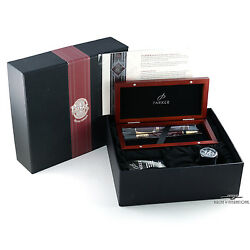 Parker Duofold Burgundy Special Edition Ballpoint And Fountain Pen Set