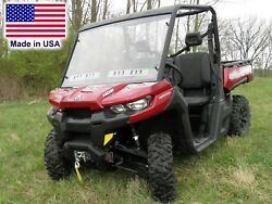 Can-Am Defender HARD WINDSHIELD - Commercial Duty Polycarbonate - Highway Ready