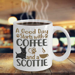 COFFEE WITH MY SCOTTISH TERRIER SCOTTIE COFFEE MUG SCOTTIE MUG SCOTTIE GIFT