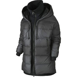 Nwt 320 Nike Womenand039s Uptown 550 Down Cocoon Jacket 683928 010 Black Puffer M