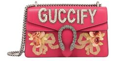 AUTHENTIC NEW Gucci Pink GUCCIFY Dionysus Small Shoulder Bag