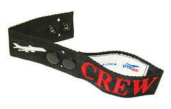 Crewgear Secured Airline Crew Bag Tag - Embroidered On Canvas - 5 Pack