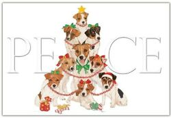 Jack Russell Terrier Christmas Card 5 x 7 with Envelope