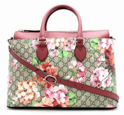 GUCCI GG Blooms Hand Shoulder Bag Pink Floral Woman Japan Limited Auth New Rare