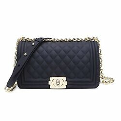 Luxury Handbags Purses For Womens Girls Silicon Quilted Crossbody Bag Shoulder