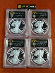 2018 S Proof Silver Eagle Pcgs Pr70 Cleveland Torch Aip Fdi 4 Coin Locations Set
