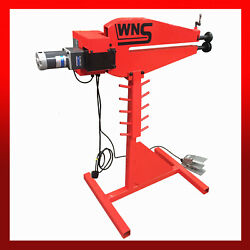 Wns Power Bead Roller Rotary Swager 610mm 24 Throat 1 Set Rolls Variable Speed