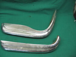 Pair Of Vintage 1960and039s 70and039s Mercedes Benz Front Bumpers Pair For Restoration