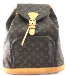Louis Vuitton Montsouris Backpack Brown One Size Authenticity Guaranteed