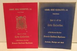 Harmer Roke Numismatists Coin Collection Auctions Books 1 And 2 Francis Cardinal