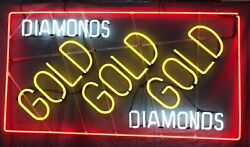 Jewelry Business Buy Scrap Pawn Shop Diamonds Gold Gold Gold 3 Colors Neon Sign