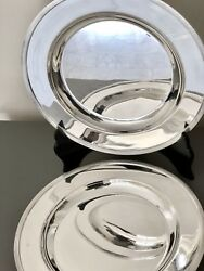"""Christofle Silverplated 2 Serving Dishs Platters """"pair"""""""