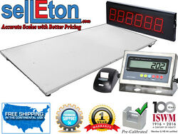 60 X 84 Floor Scale With Printer And Scoreboard Warehouse Industrial 5000 X 1