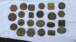 A Vintage Collection Of 23 British Rail Brass Pay Check Tokens