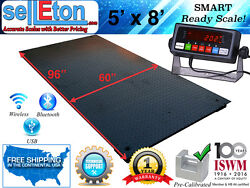 New 5and039 X 8and039 60 X 96 Industrial Heavy Duty Floor Scale 2500 Lbs X .5 Lb